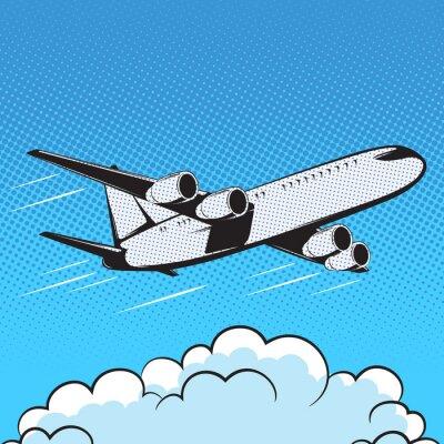 Carta da parati aereo stile retrò aria pop art
