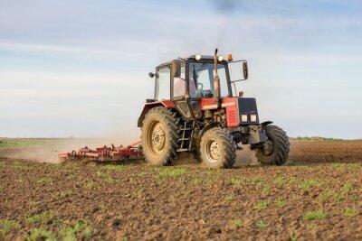 Carta da parati Agricoltore che coltiva terreni coltivabili prima della semina