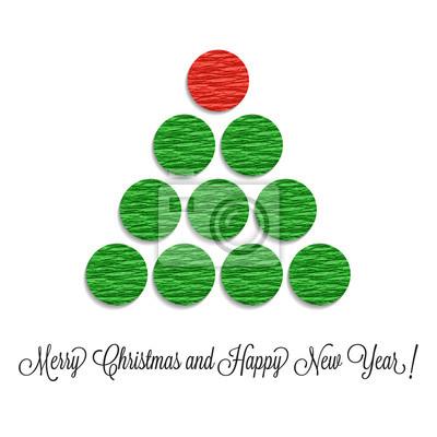 Immagini Natalizie Stilizzate.Carta Da Parati Albero Di Natale Stilizzato Fatto Di Palline Rosse E Verdi