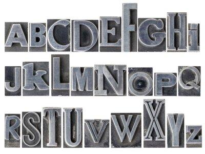 Carta da parati Alfabeto in metallo tipo misto