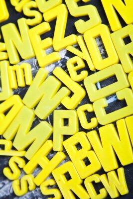 Carta da parati Alfabeto, lavagna, l'istruzione