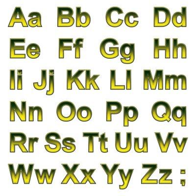 Carta da parati Alfabeto pseudo 3d lettere