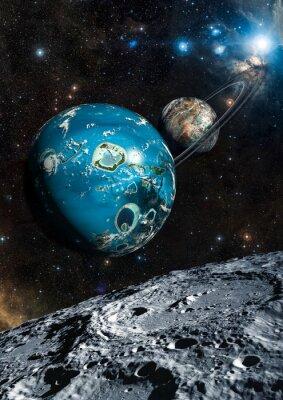 Carta da parati Alien Planet Exo. Elementi di questa immagine fornita dalla NASA