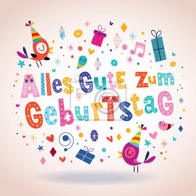 Alles gute zum geburtstag deutsch tedesco buon compleanno