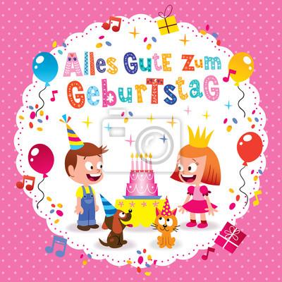Alles Gute Zum Geburtstag Deutsch Tedesco Buon Compleanno Biglietto