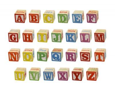 Carta da parati Alphabet Blocks