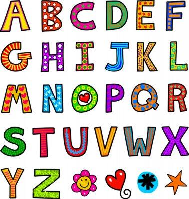 Carta da parati Alphabet Testo Doodle