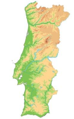 Cartina Portogallo Dettagliata.Carta Da Parati Alta Mappa Dettagliata Del Portogallo