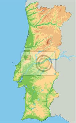 Cartina Dettagliata Del Portogallo.Alta Mappa Dettagliata Del Portogallo Carta Da Parati Carte Da Parati Portoghese Porto Mappatura Myloview It