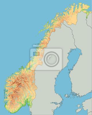 Cartina Fisica Della Norvegia.Alta Mappa Dettagliata Della Norvegia Carta Da Parati Carte Da Parati Oslo Norvegia Mappatura Myloview It