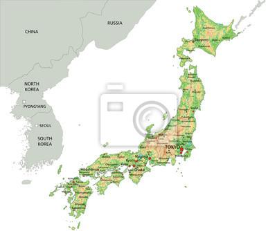 Il Giappone Cartina Politica.Giappone Cartina Dettagliata