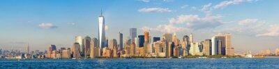 Carta da parati Alta risoluzione vista panoramica del centro di New York City visto dal mare