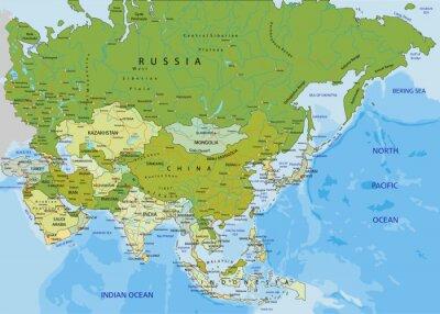 Cartina Politica Asia.Altamente Dettagliate Modificabile Mappa Politica Asia Carta Da Parati Carte Da Parati Barca Fly Emirato Saudi Myloview It