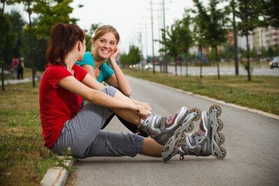 Carta da parati Amici di riposo dopo l'esercizio fisico
