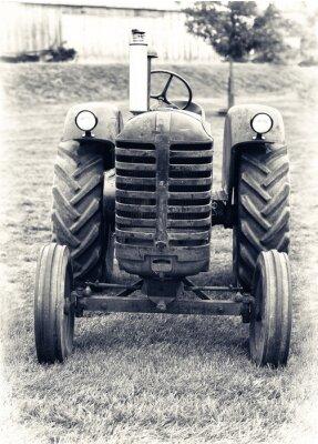 Carta da parati An Old Farm Tractor - Lightly Toned