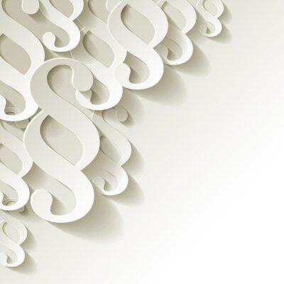Carta da parati Angolo white paper Clausola