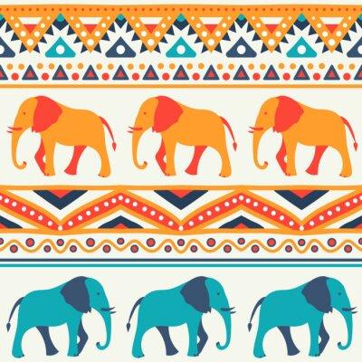 Carta da parati Animal seamless vector pattern of elephant