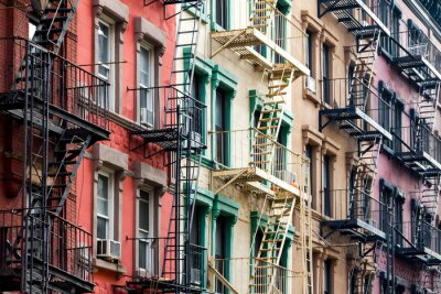 Carta da parati Appartamento edifici colorati a New York