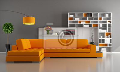 Divano Arancione E Marrone : Arancio e marrone salotto carta da parati u carte da parati