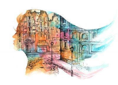 Carta da parati architettura