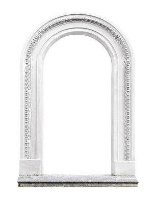 Carta da parati arco in pietra isolato su sfondo bianco