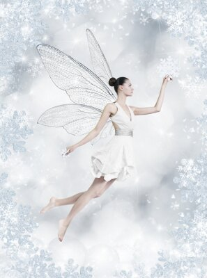 Carta da parati Argento fairy inverno