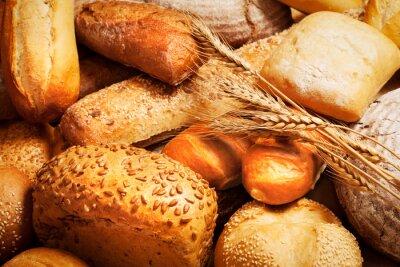 Carta da parati assortimento di pane cotto con il grano