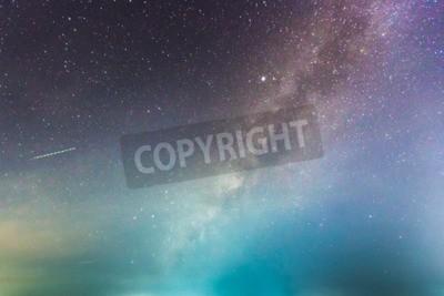 Carta da parati astratta lunga esposizione della Via Lattea Lattea nel cielo notturno di sfondo