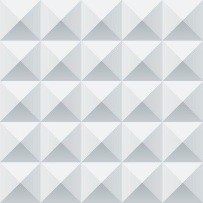 Carta da parati Astratti bianchi e grigi piazze geometriche seamless pattern