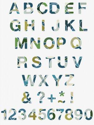 Carta da parati Astratto Alphabet