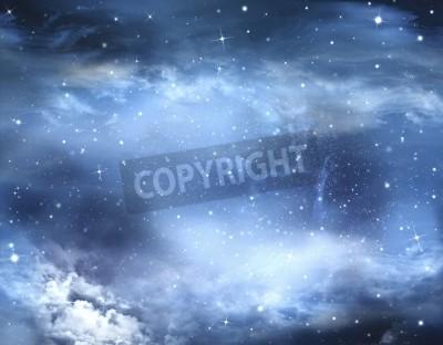 Carta da parati astratto cielo invernale, sfondo