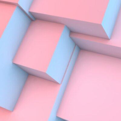 Carta da parati Astratto con quarzo rosa e cubetti di serenità
