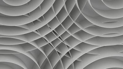 Carta da parati Astratto con spirali, 3 D rendono