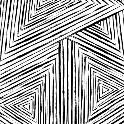 Carta da parati astratto disegno geometrico, con colpi e schizzi