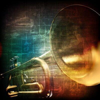Carta da parati astratto grunge con tromba