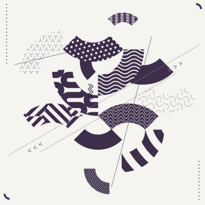 Carta da parati Astratto moderno sfondo geometrico