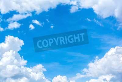Carta da parati astratto nuvola bianca sul cielo blu
