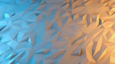 Carta da parati astratto rendering 3D sfondo. Techno triangolare bassa sfondo poli