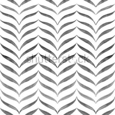 Carta da parati Astratto sfondo bianco nero. Disegno disegnato a mano senza giunte di vettore.