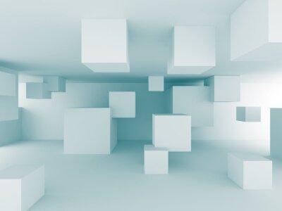 Carta da parati Astratto sfondo caotico cubi Edilizia design