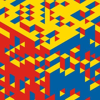 Carta da parati Astratto sfondo geometrico 3d. Mosaico. Illustrazione vettoriale.