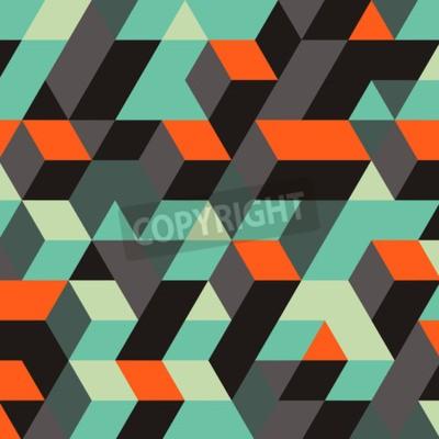 Carta da parati Astratto Sfondo Geometrico 3d. Può essere utilizzato per carta da parati, sfondo web, banner Web.