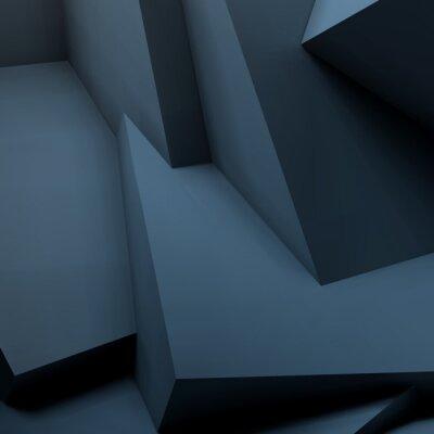 Carta da parati Astratto sfondo geometrico con cubi sovrapposti