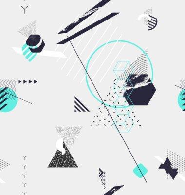 Carta da parati Astratto sfondo geometrico senza soluzione di continuità