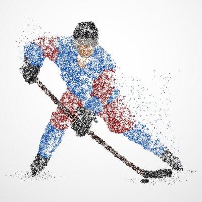 Carta da parati astrazione, hockey, ghiaccio, puck