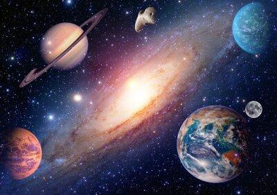 Carta da parati Astrologia astronomia terra luna spazio esterno marte saturno sistema solare pianeta galassia. Elementi di questa immagine fornita dalla NASA.