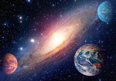 Carta da parati Astrologia astronomia terra spazio marte sistema solare pianeta via lattea galassia. Elementi di questa immagine fornita dalla NASA.