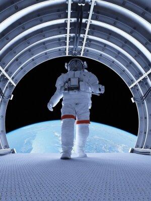 Carta da parati Astronauta nei tunnel