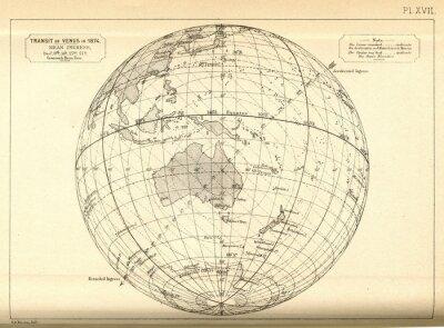 Carta da parati astronomia Vintage / transito di Venere