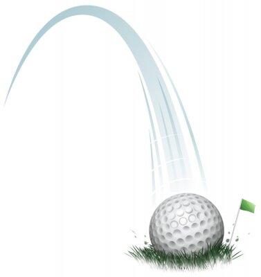 Carta da parati azione pallina da golf